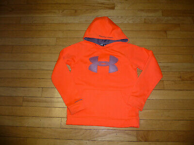 UNDER ARMOUR YOUTH  BOYS HOODIE  SIZE MEDIUM orange/gray  orange