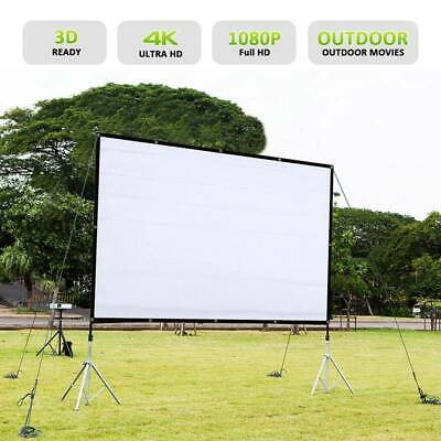 "120"" Projector Screen 16:9 Projection HD Foldable Home Theater Wall 3D 4K Movies"