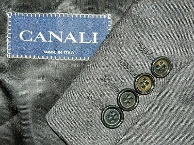 Canali Men's Charcoal Gray Wool Two-button Blazer Suit Jacket 44L