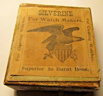 Silverine for Watchmakers Cleaning Octagon Tip-Top Plain New Haven Clock Co. NOS