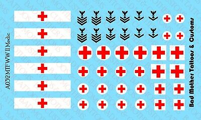 US Army Rank Chevrons Waterslide Decals 1//18 Scale Decals