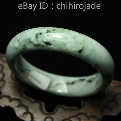 56mm Certified (Grade A) 100% Natural Green Jadeite JADE Bracelet Bangle 8633