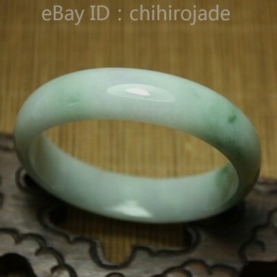 53mm Certified (Grade A) 100% Natural Green Jadeite JADE Bracelet Bangle 8606