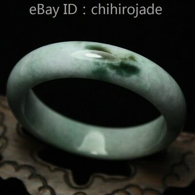 57mm Certified (Grade A) 100% Natural Green Jadeite JADE Bracelet Bangle 8645