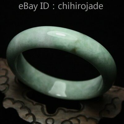 60mm Certified (Grade A) 100% Natural Green Jadeite JADE Bracelet Bangle 8644