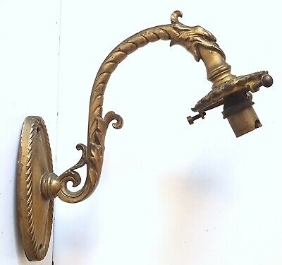 Griffin wall sconce Antique French bronze lamp Country house light Gothic style