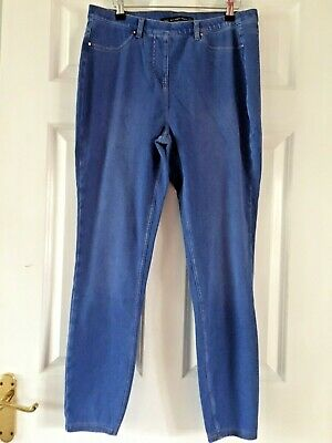 NEXT Gorgeous Distressed Blue Colour Skinny Full Length Jegging Jeans Sz 14L