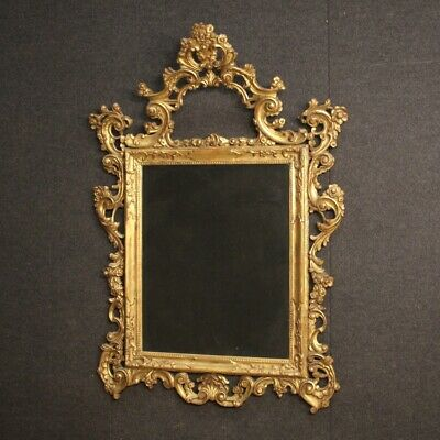Mirror Venetian furniture in gilt wood antique style frame 900 living room