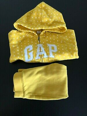 Baby Gap Logo Zip Hoodie Girl 4 Years Sweatshirt & 3 Years Logo Pants