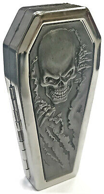 Eclipse Assorted Coffin Shaped Crushproof Metal Cigarette Case, 100s, #01COF-BKS
