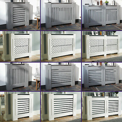 Modern MDF Radiator Cover Painted Traditional Wood Slat Cabinet | Franz