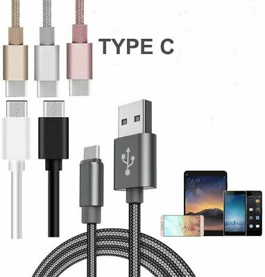 NEW Strong Braided Nylon Fast USB C 3.0 Type C Data Sync Charger Charging Cable