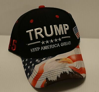 Donald Trump 2020 President Keep America Great Cap Hat MAGA 45 (Navy) EAGLE
