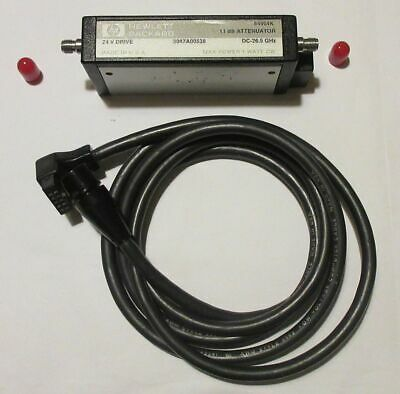 Agilent Hewlett Packard 84904K 11db attenuator DC-26.5 Ghz with original cable