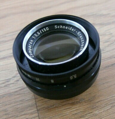 Schneider Componon 150mm F:5.6  enlarging lens but has some fungus. SEE.