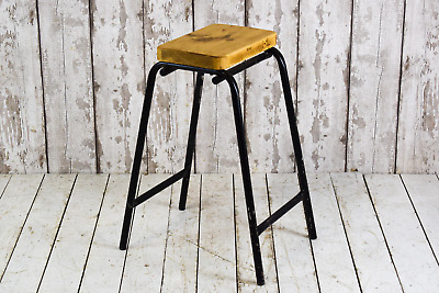 Vintage Industrial Cafe Bar Kitchen School Lab Stacking Stools 11 AVAILABLE S29