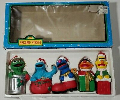 SESAME STREET Kurt Adler Ornaments Oscar Cookie Monster Grover Bert Ernie