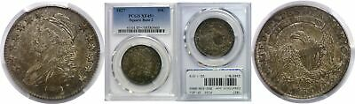 1827 50C Capped Bust Half Dollar Square Base 2 Silver PCGS XF-45+