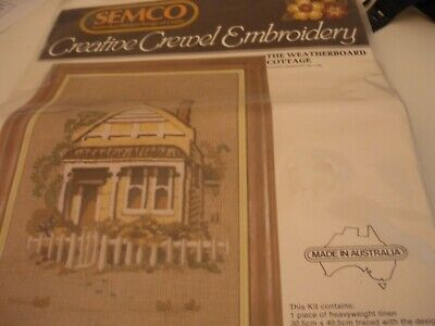"""The Weatherboard Cottage"" - Crewel Embroidery Kit"