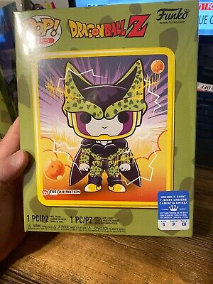 Funko Pop Tees Dragon Ball Z Perfect Cell GameStop Exclusive Size Small In Hand