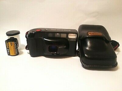 Canon Sure Shot Supreme 35mm Point & Shoot Camera w/ Case + Roll of Film Hi-Def