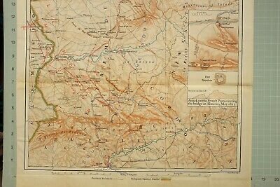 Map/Battle Plan Spain Attack On French Posts Fort Napoleon May 1812