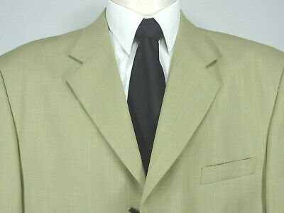Vittorio St. Angelo 3 Button No Vent Fully Lined Sport Coat Jacket 48L NWT