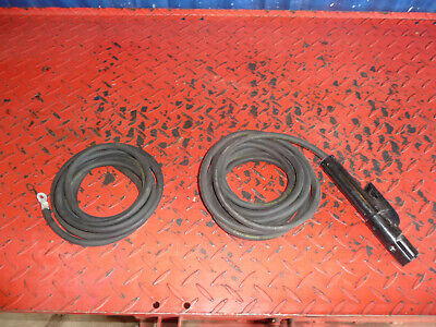 SMAW Stick Welder Electrode Holder with 15 Ft 4 Gauge Ground Clamp with 10 ft