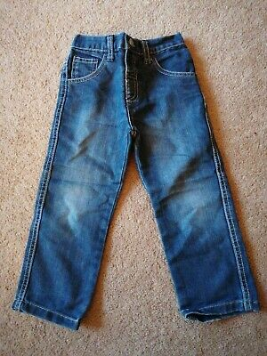 Matalan Boys Straight Leg Denim Jeans Blue Size 2 - 3 Years Good Condition