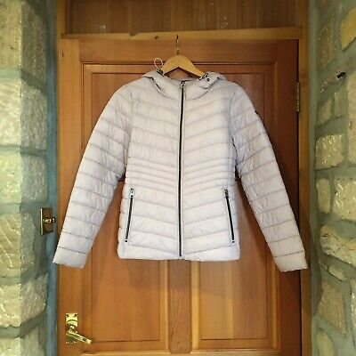 """Esprit Light Padded Hooded Jacket """"old Pink"""" = Lilac Pale Purple Size Small 8-10"""