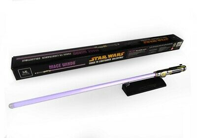 Master Replicas Star wars Mace Windu F/x lightsaber non-Hasbro Black series