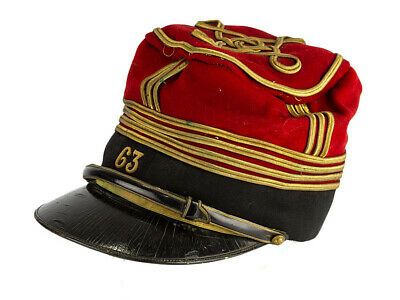 c1890 France Infantry Major Commandant Kepi 63 Regiment