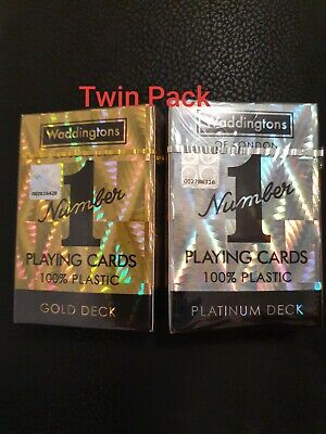 Winning Moves Waddingtons No 1 Platinum & Gold Playing Cards  TWIN PACK