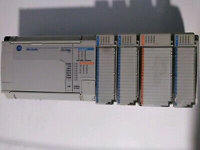 Allen-Bradley MicroLogix 1500 1764-24BWA Ser B Used WITH EXTRAS