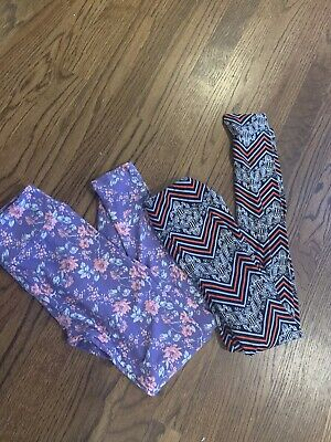 LuLaRoe Girls Leggings Pants Lot Size TWEEN