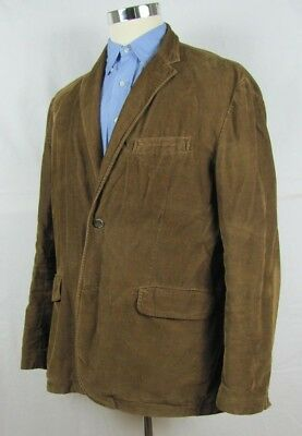 J.CREW Vintage Cord Mens Solid Brown Cotton Corduroy Blazer Sport Coat Jacket XL