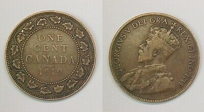 1919 Canadian Large Cent  Very Good - Fine VG - F