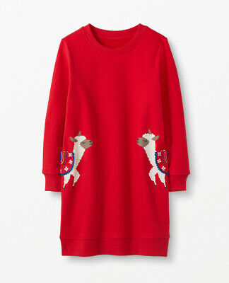 NWT Hanna Andersson Llama Cozy Critters Dress Baby Toddler Girl
