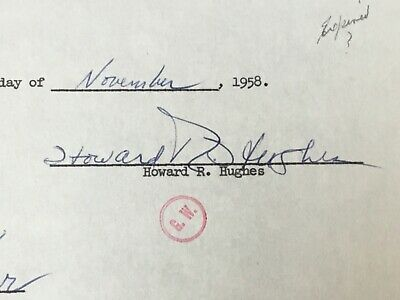 Howard Hughes Signed Power of Attorney ~ Notarized and Authenticated by PSA/DNA