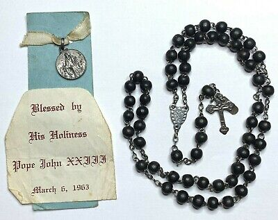 † Vintage Blessed By St Pope Xxiii 1958 Vatican 800 Silver Medal Buy Rosary †