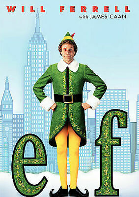 Elf (DVD, 2004) Widescreen Christmas Comedy Movie Rated PG Will Ferrell