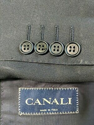 Canali Men's Black Wool Two-button Blazer Suit Jacket 40R