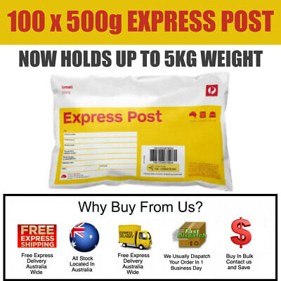 100 x Prepaid 500g (5kg) Satchel Small Australia Express Post - Posts by Express