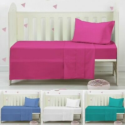 Cot Bed Fitted Sheets 100% Poly Cotton Soft  Fitted Sheets 70 cm X 140 cm