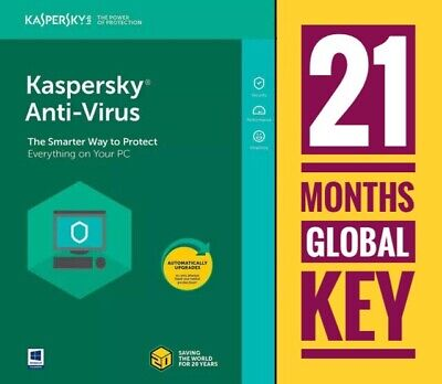 Kaspersky Antivirus Security 2020 1 Device Pc 2 Years License Global Key + Gift