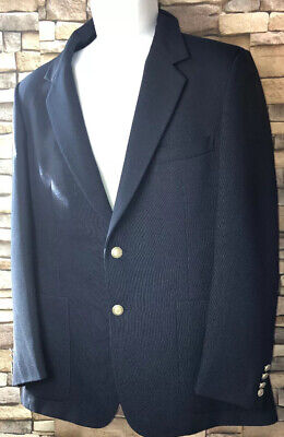 Geoffrey Beene Mens  Blazer Suit Jacket Sport Coat Navy Blue Long Sleeve Button