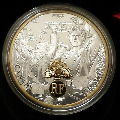 Canada RCM 2018 WWI $20 Proof Fine Silver Coin Allied Forces France