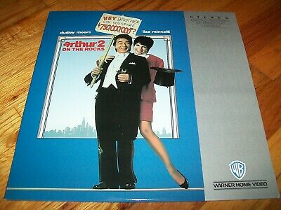 ARTHUR 2: ON THE ROCKS Laserdisc LD VERY GOOD CONDITION VERY RARE AND FUNNY!