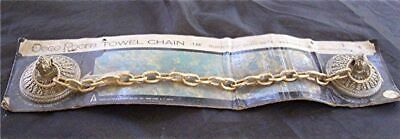 "Vtg 1968 American Tack & Hdwe Deco Room Towel Chain 18"" Towel Holder Nip"