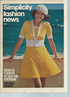 NI-033 - Simplicity Fashion News Bare Midriff Issue 1960's Vintage